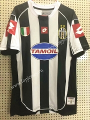 Retro Version 2002-2003 Juventus Home Black&White Thailand Soccer Jersey AAA-811