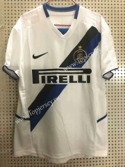 Retro Version 2002-2003 Inter Milan Away White Thailand Soccer Jersey AAA-811