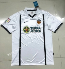 Retro Version 2000-2001 Valencia Home White Thailand Soccer Jersey AAA-SL
