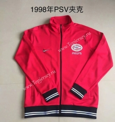 Retro Version 1998 PSV Eindhoven Red Thailand Soccer Jacket -AY