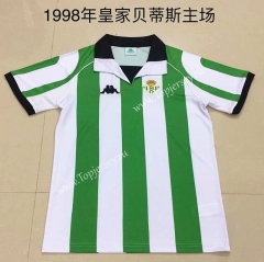 Retro Version 1998 Real Betis Home White and Green Thailand Soccer Jersey-DG