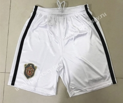 Retro Version 1999-2000 Manchester United Home White Thailand Soccer Shorts-SL