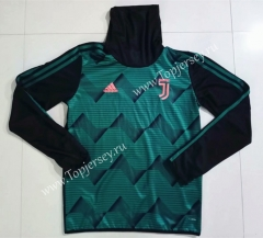 2019-20 Juventus Dark Green High Collar Thailand Soccer Tracksuit Top-GDP