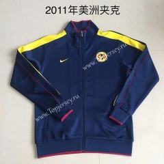 Retro Version 2011 Club América Royal Blue Thailand Soccer Jacket -AY