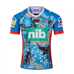 2019-20 Hero Version Knight Blue Thailand Rugby Shirt