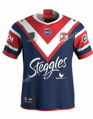 2019 Champion Version Australia Roosters Royal Blue Thailand Rugby Shirt