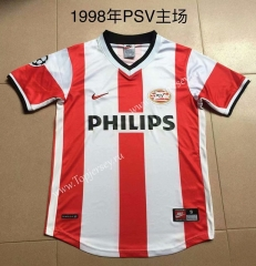 Retro Version 1998 Eindhoven Home Red and White Thailand Soccer Jersey AAA-AY
