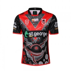 2019 Hero Edition St George Red&Black Thailand Rugby Jersey