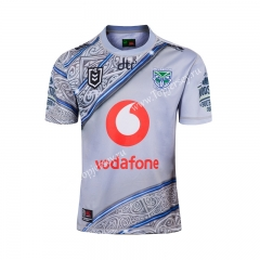 2019 New Zealand Warriors Gray Thailand Rugby Jersey
