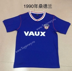 Retro Version 1990 Sunderland AFC Blue Thailand Soccer Jersey AAA-AY