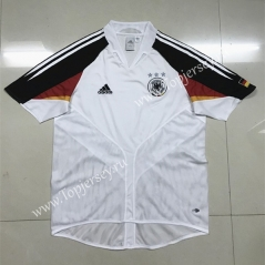 2004 Retro Version Germany Home White Thailand Soccer Jersey AAA-SL
