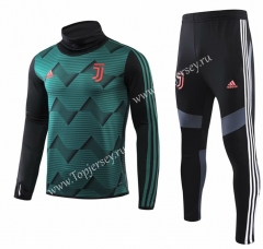 2019-20 Juventus Dark Green High Collar Thailand Soccer Tracksuit-GDP