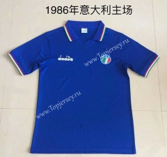 Retro Version 1986 Italy Home Blue Thailand Soccer Jersey AAA-DG