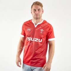 2019-2020 Wales Home Red Thailand Rugby Shirt