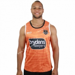 2019 Wests Tigers Orange Thailand Rugby Vest