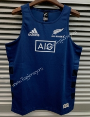 2019 New Zealand All Black Upper Cyan Thailand Rugby Vest