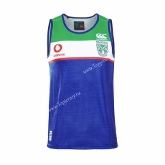 2019 New Zealand Warriors Blue Thailand Rugby Vest