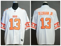 Team Logo Version Cleveland Browns White #26 NFL Jersey