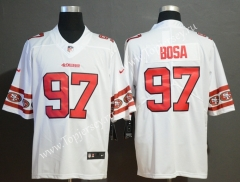 Team Logo Version San Francisco 49ers White #97 NFL Jersey