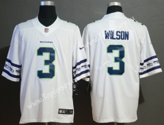 Team Logo Version Seattle Seahawks White #3 NFL Jersey