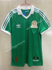 Retro Version 1986 Mexico Home Green Thailand Soccer Jersey AAA-811