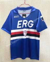 Retro Version 1990-1991 Sampdoria Home Blue Thailand Soccer Jersey AAA-811