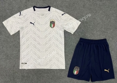 2020 European Cup Italy Away White Soccer Uniform