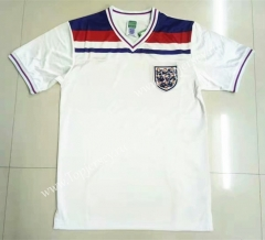 Retro Version 1982 England Home White Thailand Soccer Jersey AAA-LL