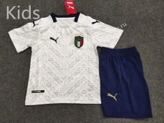 2020 European Cup Italy Away White Kids/Youth Soccer Uniform