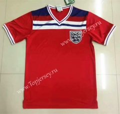 Retro Version 1982 England Away Red Thailand Soccer Jersey AAA-LL