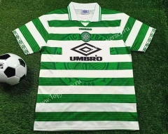 Retro Version 1997-1999 Celtic Home White&Green Thailand Soccer Jersey AAA-503