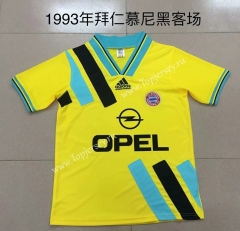 Retro Version 1993 Bayern München Away Yellow Thailand Soccer Jersey AAA-AY