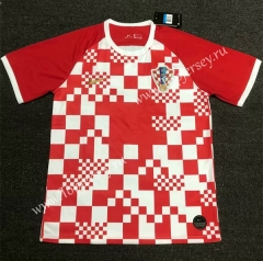 2020 European Cup Croatia Home White & Red Thailand Soccer Jersey AAA
