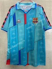 Retro Version 1996-1997 Barcelona Away Blue Thailand Soccer Jersey AAA-811