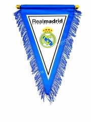 Real Madrid White Triangle Team Flag