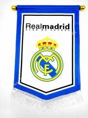Real Madrid White Diamond Team Flag