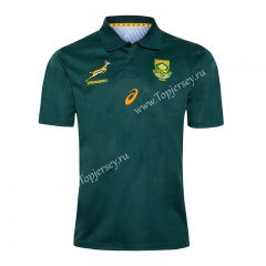 2020 South Africa Home Green Thailand Rugby Jersey