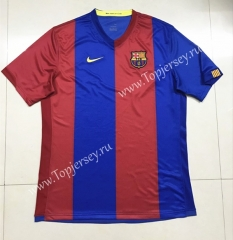 Retro Version 2006-2007 Barcelona Home Red&Blue Thailand Soccer Jersey AAA-SL