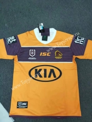 2020 Mustang Away Yellow Thailand Rugby Shirt