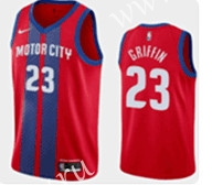 City Edition 2019-2020 Detroit Pistons Red #23 NBA Jersey