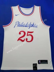 City Edition 2019-2020 Philadelphia 76ers White #25 NBA Jersey