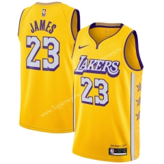 City Edition 2019-2020 Los Angeles Lakers Yellow #23 NBA Jersey