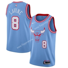 City Edition 2019-2020 Chicago Bulls Light Blue #8 NBA Jersey