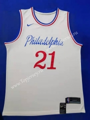City Edition 2019-2020 Philadelphia 76ers White #21 NBA Jersey