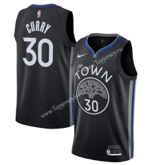 City Edition 2019-2020 Golden State Warriors Black #30 NBA Jersey