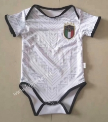 2020 European Cup Italy Away White Baby Soccer Uniform