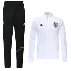 2019 -2020 Germany White Training Thailand Soccer Jacket Unifrom-LH