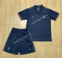 2020 European Cup Germany Away Black Soccer Uniform