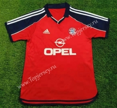 Retro Version 2000-2001 Bayern München Home Red Thailand Soccer Jersey AAA-503