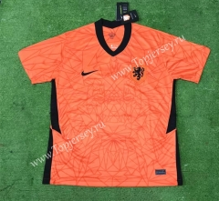 2020 European Cup Netherlands Home Orange Thailand Soccer Jersey AAA